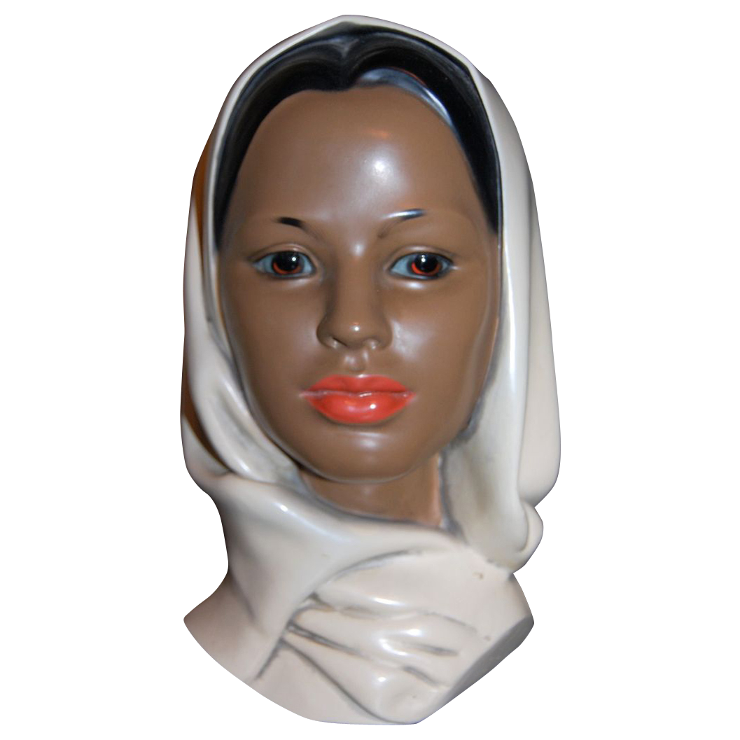 Vintage Ceramic Marwal Indian Woman Bust - Near Mint