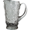 Heavy Textured Clear Glass Pitcher ~ Vintage & Lovely