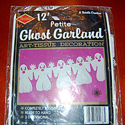 SALE 1990 Beistle ~ 12' Petite Halloween Ghost Garland