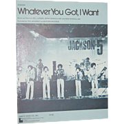 SALE 1974 Michael Jackson ~ Whatever You Got, I Want Sheet Music