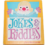 SALE 1959 Jokes & Riddles Hardcover Book