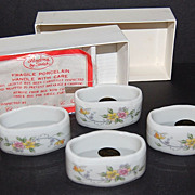 SALE Andrea by Sadek ~ White Floral Napkin Rings
