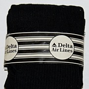 SALE Vintage DELTA Airlines Travel Socks & Eye Shade