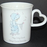 SALE 1985 Precious Moments ~ Heart Handle Mug
