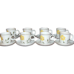 1970s Noritake ~ Hello Spring 16-Pc Cup/Saucer Set