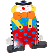 SALE Sevi ~ Decorative Painted Wood Clown