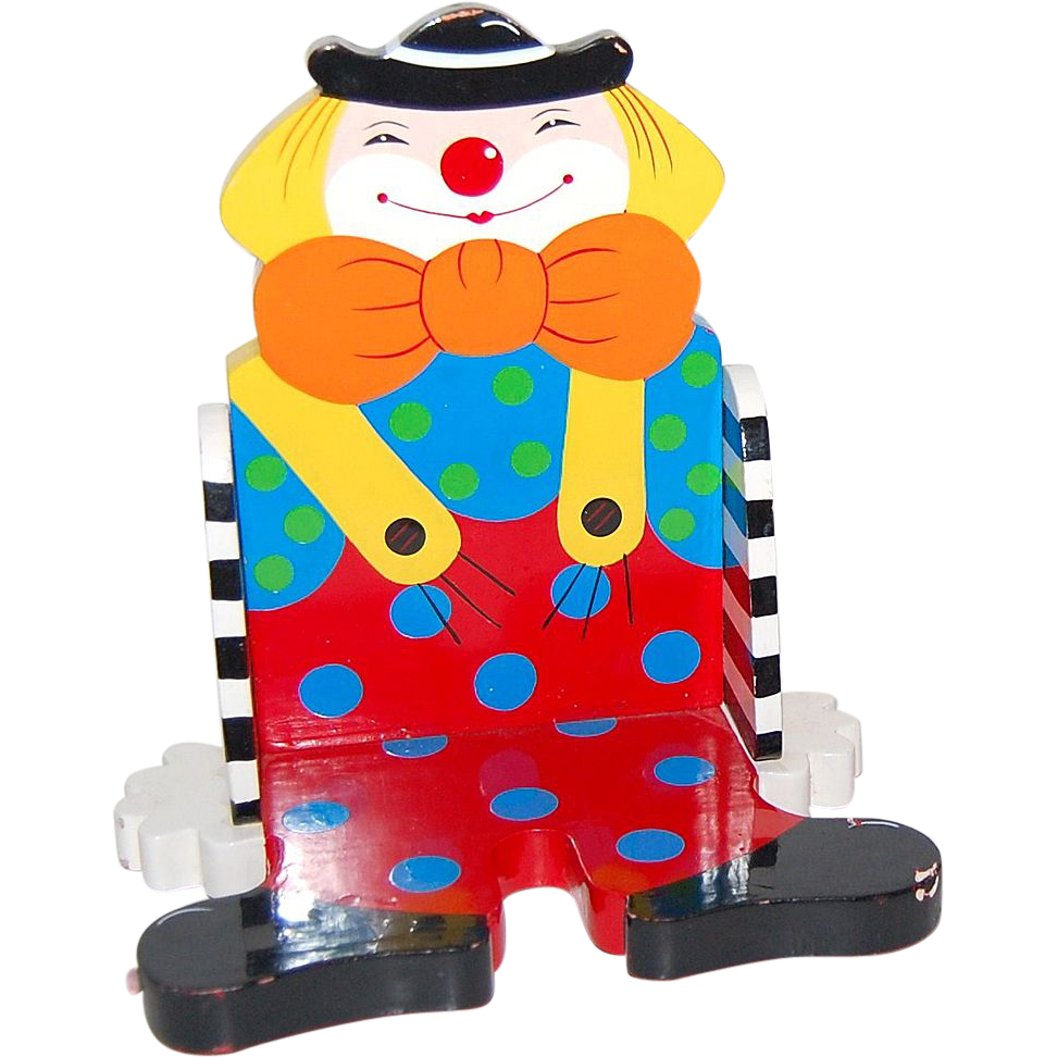 Sevi ~ Decorative Painted Wood Clown