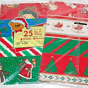 SALE 1970/80s Christmas Gift Wrap ~ 8 Designs ~ Made in USA