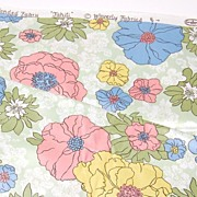 SALE Vintage Waverly Glosheen ~ Tahiti ~ Pop Art Flower Fabric