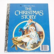 SALE 1980 The Christmas Story ~ A Little Golden Book
