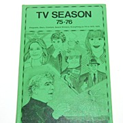 SALE 1975-76 TV Season Hardcover Book