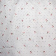 SALE 1970/80s Springs ~ Pink Tulip & Polka-Dot Twin-Size Bed Skirt
