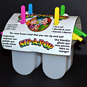 SALE 1980s Sip-A-Pop ~ 5-Pc Popsicle Mold ~ USA
