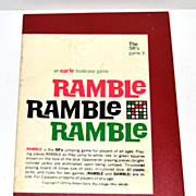 SALE 1972 Ramble Board Game ~ Complete w/ Instructions