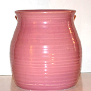 SALE 1950/60s Hyalyn Pottery ~ Coral Pink Ribbed Pottery Vase