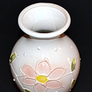 SALE Vintage W. Germany ~ Pink Ceramic Flower Vase