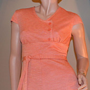 SALE 1960s Jerrell of Texas ~ Orange Mini Dress