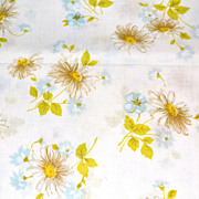 SALE 1960/70s Morgan Jones ~ Yellow Daisies No Iron Twin Flat Sheet