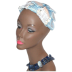 1940s Baby Blue & White Flower Hair Topper Hat