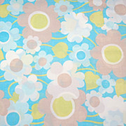 SALE 1960s Pacific ~ Blue Flower Power Percale Pillowcase