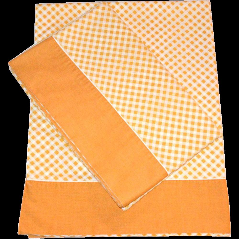 Orange Flat Sheet Twin Checkered Twin Flat Sheet