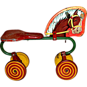 SALE 1940s Horse Tricycle w/ Lollipop Wheels