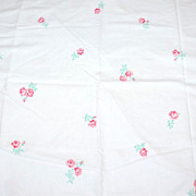 SALE 1960s Fieldcrest ~ Deep Pink Rose Standard Pillowcase