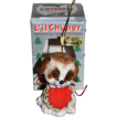 1970s Jasco ~ Lil Chimers Pup Bisque Christmas Bell Ornament w/ Orig Box