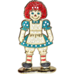 1970s Raggedy Ann Enamel Earring Holder