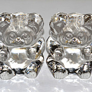 SALE Lenox Imperial ~ Set of 2 Glass Teddy Bear Bookends