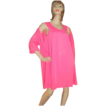1960s Lorraine ~ 2-Pc Hot Pink Nylon Nightgown & Robe