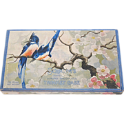 SALE 1930/40s Schrafft's ~ Bluebird & Cherry Blossom Chocolate Box