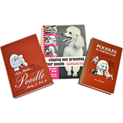 SALE Set of 3 Poodle Pet Care Hardcover Books