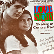 SALE 1970s Love Story ~ Skating in Central Park 45 Record