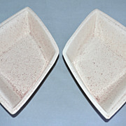 SALE California Pottery ~ Set of 2 Speckled Pale Pink Dishes