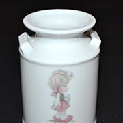 SALE 1987 Precious Moments ~ Crock Pot Style Vase Collectible