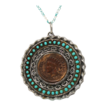 Vintage Juliana (D&E) Book Piece Indian Head Penny Pendant Necklace