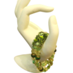 Beautiful Shades Of Green Stretch Beaded Bracelet With Focal