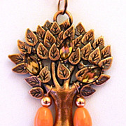 Tree Of LIfe Done In Copper Plated Necklace Pendant