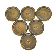 6 Buttons Vintage True Deco BAKELITE Six COAT LARGE 1 1/2&quot; Butterscotch Swirls
