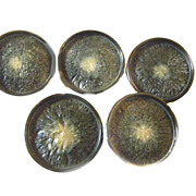 5 Buttons ART DECO Bakelite Fancy COAT Button 1 9/16&quot;