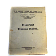 SALE 1941 WWII Civil Pilot Training Manual Flying US Department of Commerce