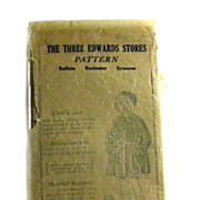 SALE Child's Coat Pattern Sewing ANTIQUE Three Edwards Stores INTACT