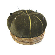 Sweet Grass PIN CUSHION Green Velveteen SEWING