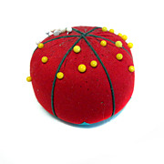 Pin Cushion TOMATO Fabric SEWING Vintage