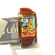 Mickey Mouse LORUS 'Steamboat Willie' WATCH RMF826 Rare