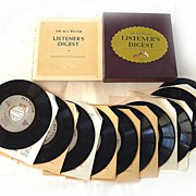 The RCA Victor Listener's Digest COLLECTION OF 10 45rpm Records And BIOGRAPHY