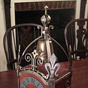 SALE Antique French Fleur De Lis Mantle Clock, Circa 1910