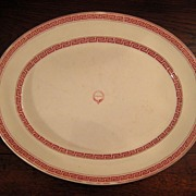 SALE Large 19th Century Transferware Platter, Circa 1860