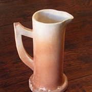 SALE Vintage Matte Glazed Art Pottery Pitcher, Circa 1940